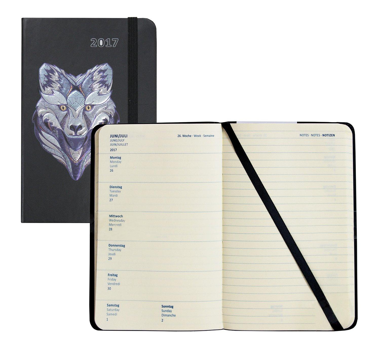 Idena 10662 – Agenda Calendario Agenda 2017, FSC-Mix, diseño de lobo