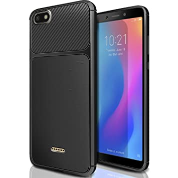 AROYI Funda para Xiaomi Redmi 6A, Carcasa Soft Slim Flexible Back Bumper Antigolpes TPU Silicona Gel Espalda Case Cover para Xiaomi Redmi 6A - Negro