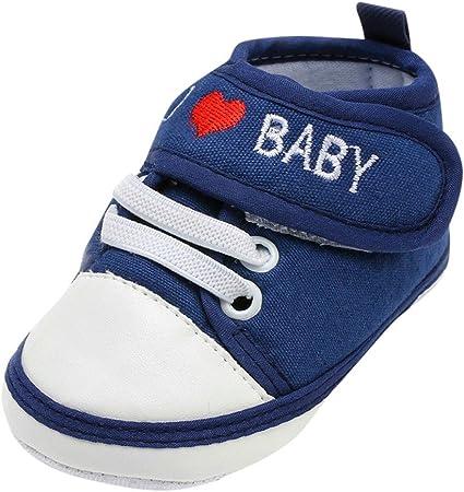 Patifia Niedlich bebé bebé niño niña suave suela lienzo zapatillas ...