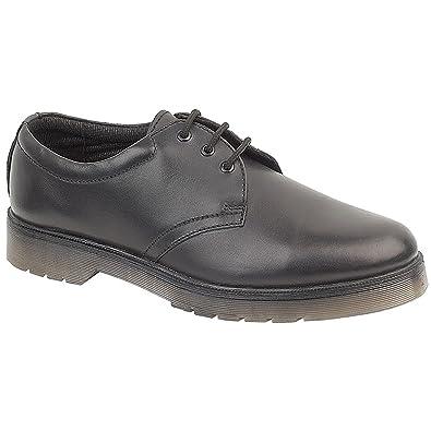 Amblers Aldershot Gibson Damen Leder Schuhe (37 EUR) (Schwarz) 9igv8IOGv