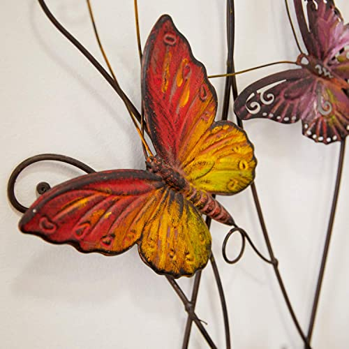 Large Colorful Butterflies Outdoor Metal Wall Decor