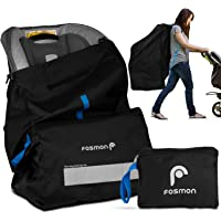 Fosmon Infant Car Seat Travel Bag for Airplane, Nylon Backpack Style Padded Adjustable Shoulder Strap, Drawstring…