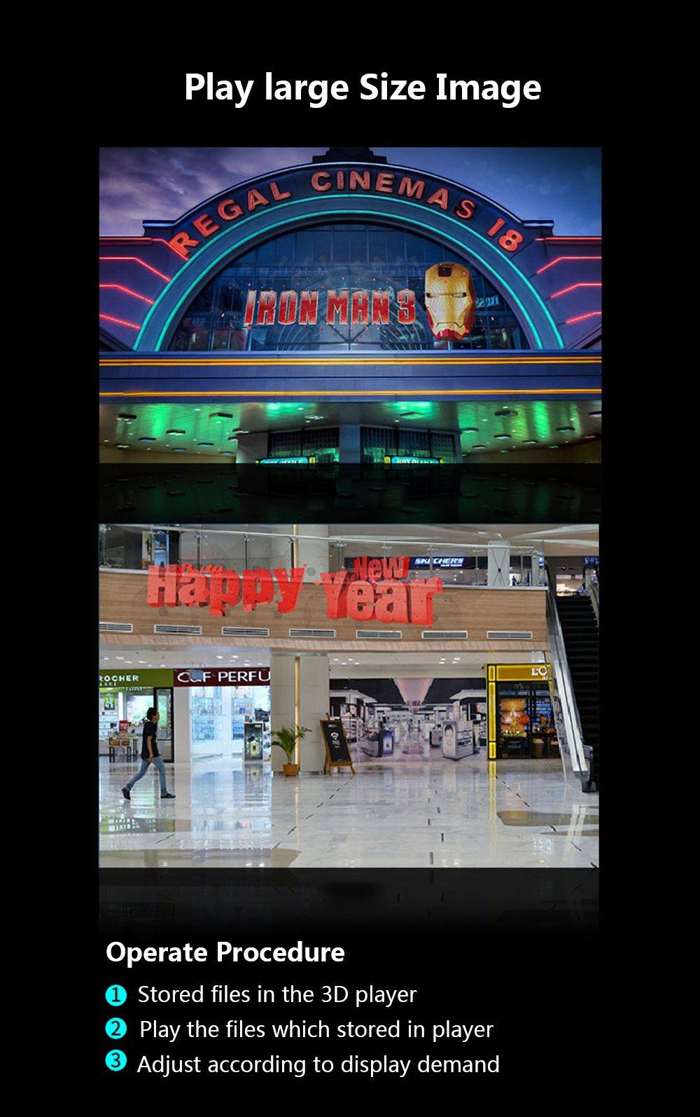 Docooler 3D Hologram AD LED Fan Holographic Projector Display for Product Presentation ADS Exhibition Decoration by Docooler (Image #7)