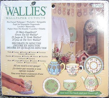Wallies Wallpaper Cutouts Green Tea Set By Mary Engelbreit