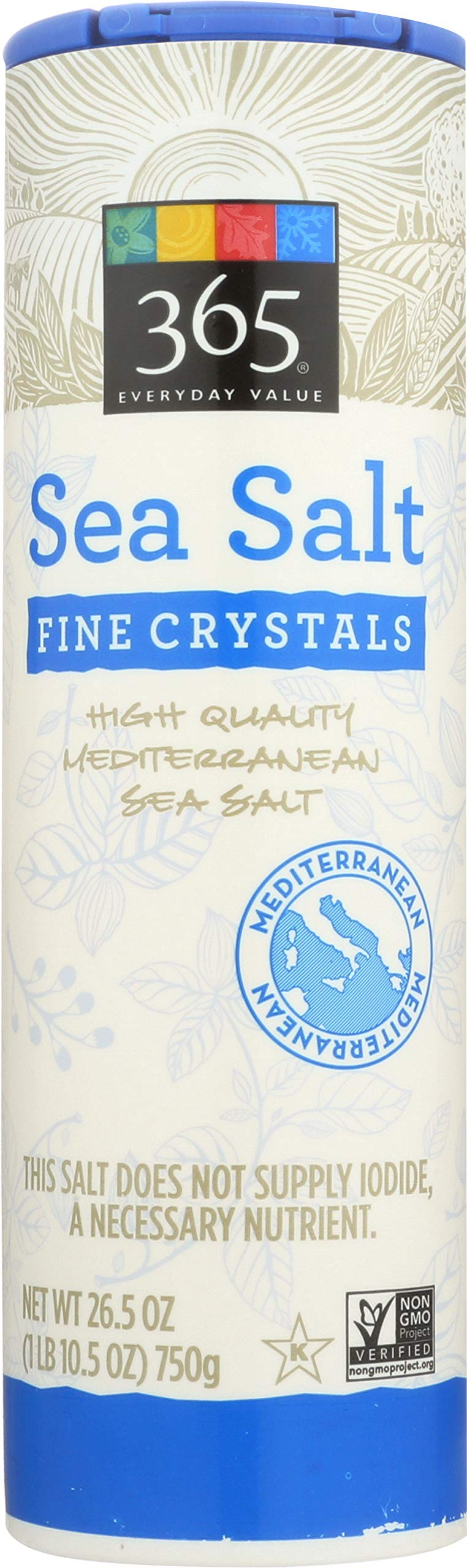 365 Everyday Value, Sea Salt Fine, 26.5 Ounce