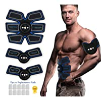 SEEYC ABS Stimulator&Muscle Toner - Abdominal Toning Belt&EMS Body Muscle Trainer Fat Burner Equipment by 6 Modes & 9 grades stimulus intensity - Portable USB Charger