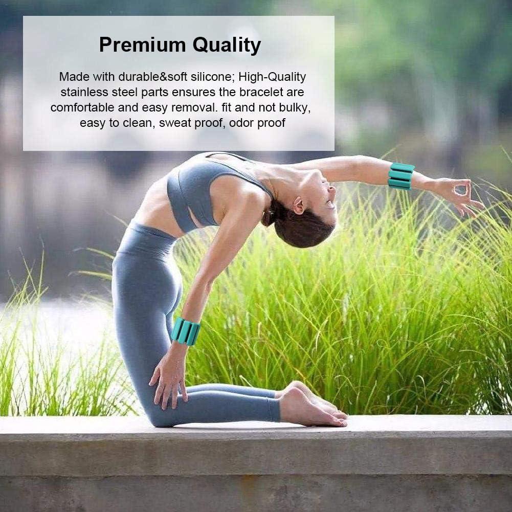 B/änke Heimgebrauch Bodybuilding Yoga 2 St/ück verstellbares Handgelenkarmband f/ür Krafttraining Sanmubo Trading Gewichtsmanschetten f/ür Frauen M/änner Teen 450g, Braun