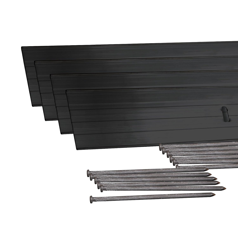 Dimex EasyFlex Aluminum Landscape Edging Project Kit, Will Not Rust Like Steel, Black 1806BK-24C
