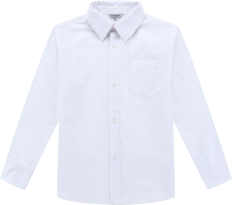 Bienzoe Ragazze Uniforme Scolastica Cotone Elastico Pantaloni