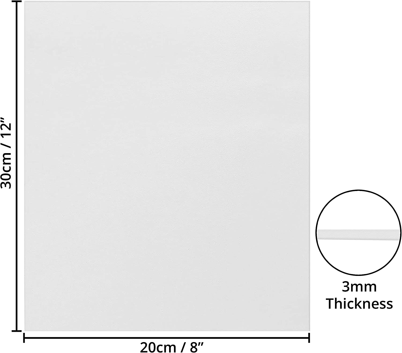 Tela Bianca per Dipingere Set Tele per Dipingere 20x30 ad Olio ed Acrilico Tela per Dipingere 20x30 Opere d/'Arte Cartone Telato Set da 7 Tela Pittura Spessore 3mm Tele Pittura ad Acquerello