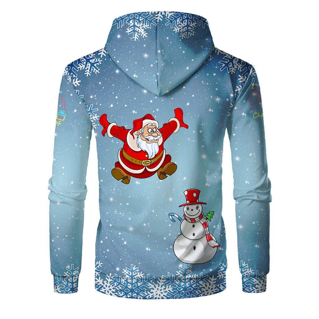 Sudadera con Capucha para Hombre Navidad, Otoño Invierno Funny ...