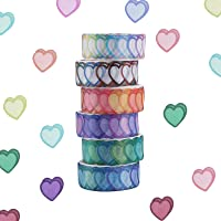 GLAITC Washi Tape Set, 6/8 Rolls Dot Washi Tape Stickers 600/800 Stuks Stippen Stickers 14mm Breedte Decoratieve Tapes…