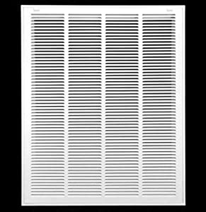 "20"" X 30 Steel Return Air Filter Grille for 1"" Filter - Removable Face/Door - HVAC Duct Cover - Flat Stamped Face - White [Outer Dimensions: 22.5 X 31.75]"