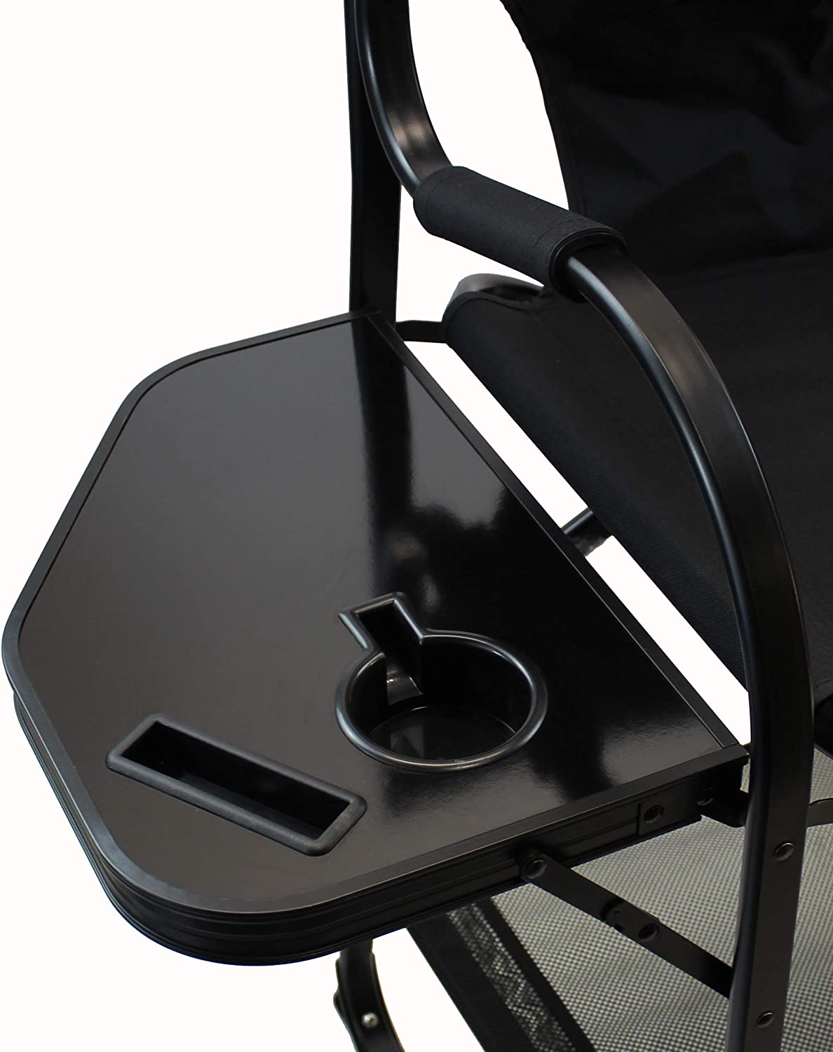 World Outdoor Products Professional Edition 2 Pack Tall Directors Chairs with Side Table,Built-in Cup and New Cellphone Holder,New Removable Front and Backside Patches.