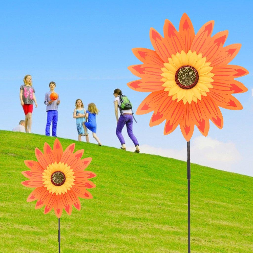 Kalttoy Toy Fr/ía Grandes Doble Capa Girasol Molino de Viento Viento Spinner Ni/ños Juguete Yard Jard/ín Decoraci/ón