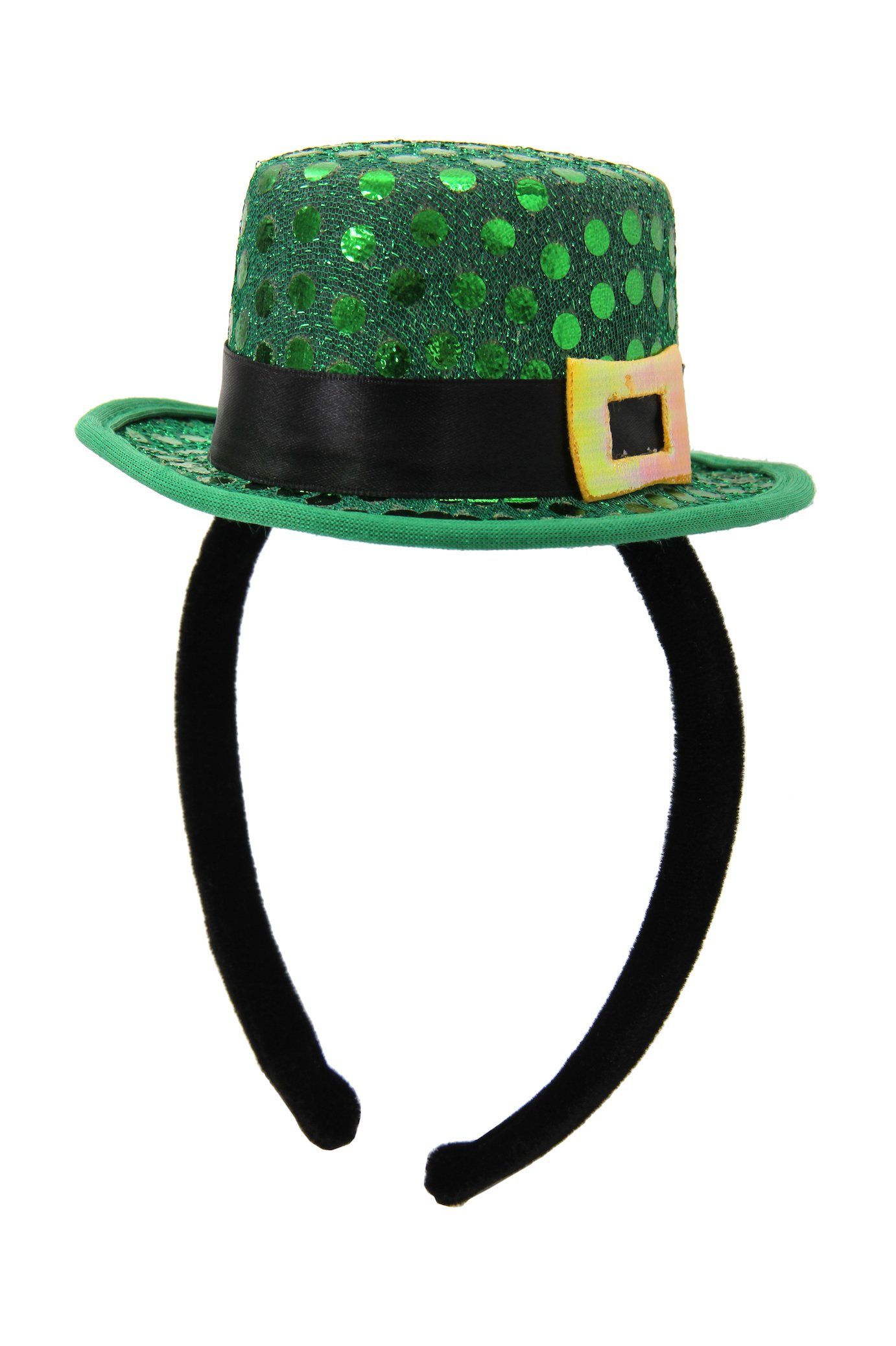 elope Mini Leprechaun Sequin Hat, Green, One Size