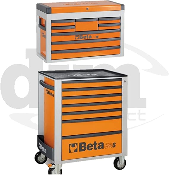 Beta - Carro y caja de herramientas, 7 y 8 cajones: Amazon.es: Bricolaje y herramientas