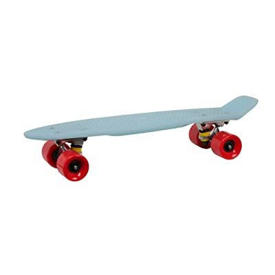 'Rollingbull Glow Blue Light Blue Deck Red Wheels Deck Mini Cruiser Skate board 22SKATE Board by RollingBull
