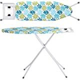 Oumffy X-Pres Ace - Extra Large Foldable Ironing Board with Ironing Table with Iron Stand (ironing board) (Firozi)