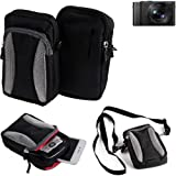 Étui de protection á Bandoulière pour Panasonic Lumix DMC-LX15, Sac d'épaule, Holster pour Appareil Photo caméra | coque housse - K-S-Trade(TM)
