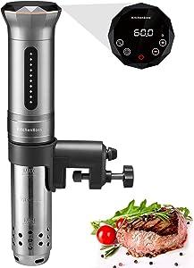 KitchenBoss Sous Vide Cooker Machine | 1100 Watt IPX7 Waterproof | Water Cooker, Sousvide Cooker | Thermal Immersion Circulator | Accurate Temperature Control Digital Display | Includes 10 Vacuum Sealer Bags