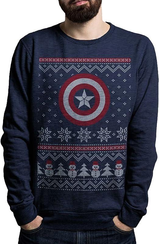 Captain America Civil War Fair Isle Crewneck Sweatshirt