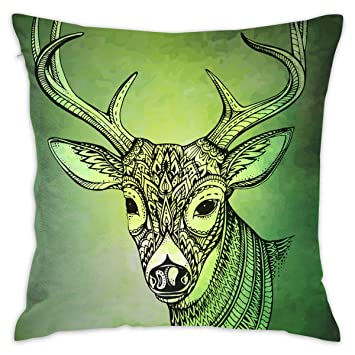 Magnificent Amazon Com Eante Throw Pillow Cover Horned Deer Decorative Inzonedesignstudio Interior Chair Design Inzonedesignstudiocom