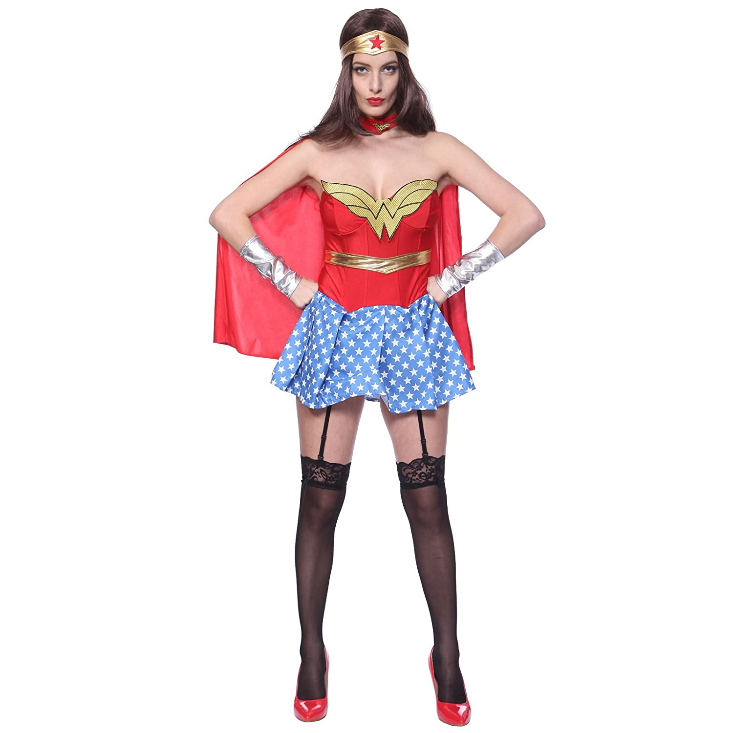 Anladia - Disfraz de Wonder Woman para adulto mujer Cosplay Dress ...