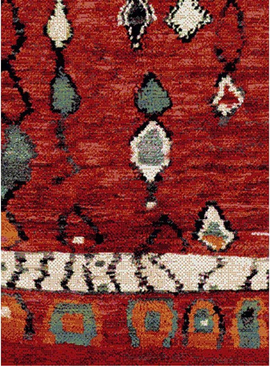 UN AMOUR DE TAPIS Berber Morocco 60x110 cm Tapis Moderne Tapis Entr/ée Tapis Rectangulaire Tapis Rouge