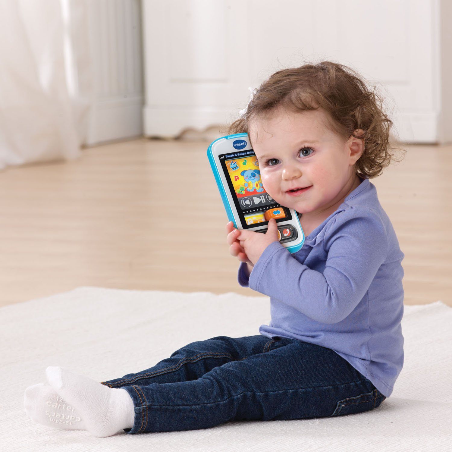 VTech Touch and Swipe Baby Phone, Blue by VTech (Image #5)