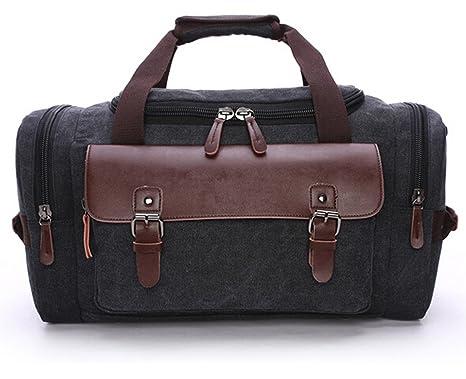 duffle bag canvas travel tote bag big capacity weekender overnight bag for tripwork - Travel Tote Bags