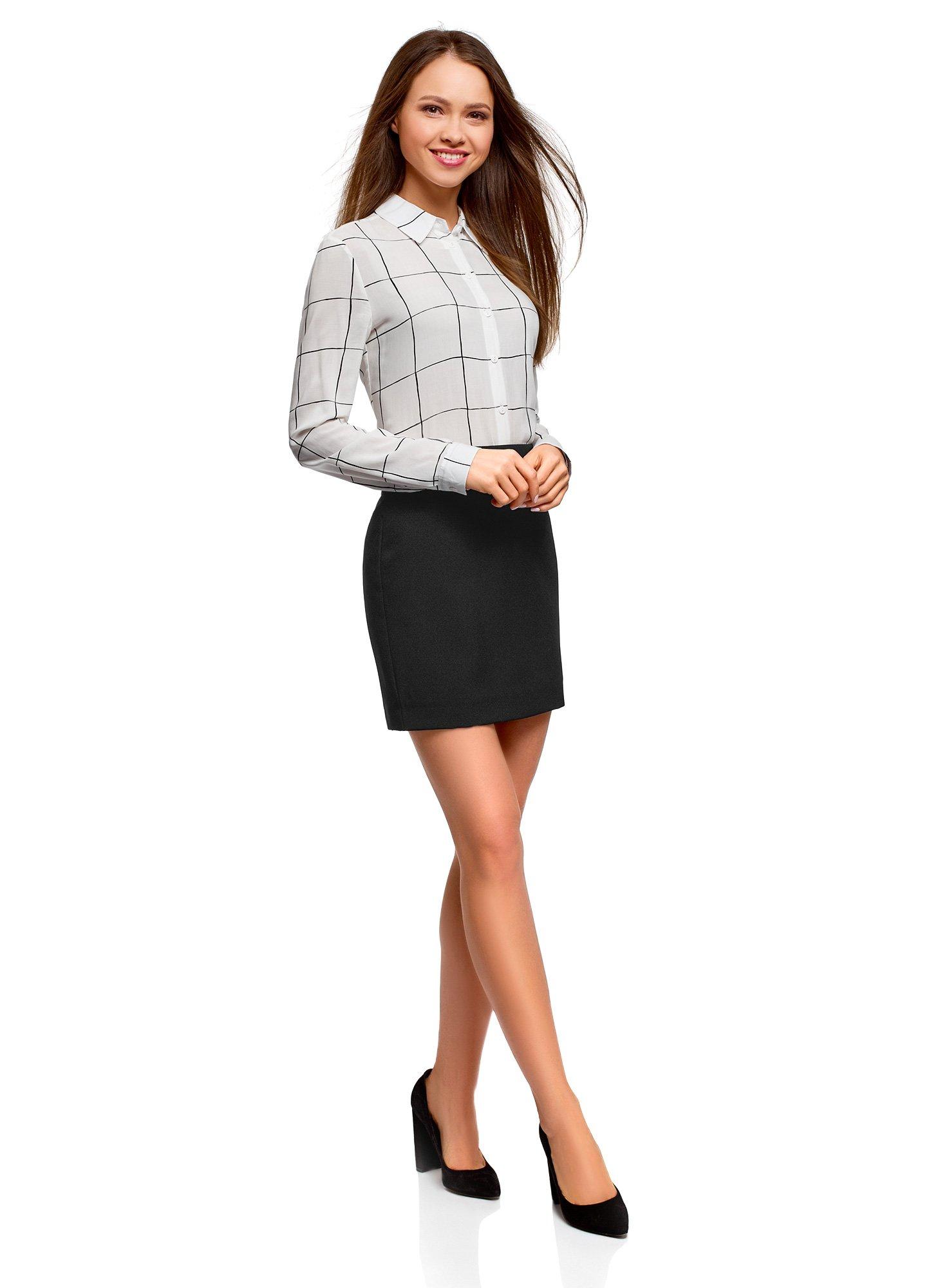 oodji Ultra Women's Basic Short Skirt, Black, 6 by oodji (Image #6)