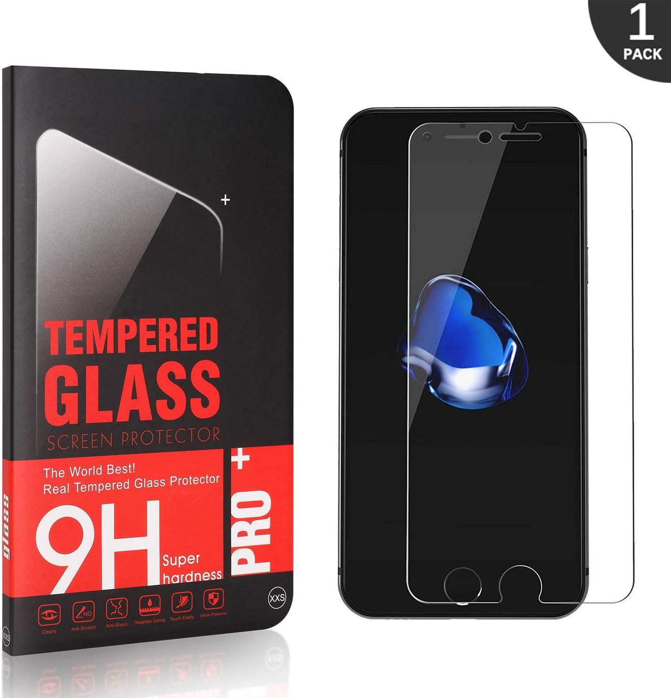 Anti-/Öl mit 9H H/ärte Anti-Kratzen H/ülle Freundllich, Anti-Bl/äschen 1 St/ück 2.5D Runde Kante Generic LAFCH Panzerglasfolie f/ür Apple iPhone 7 // iPhone 8,