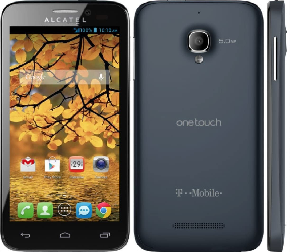 Alcatel One Touch Fierce 4G Android Smartphone Unlocked - Use With Any SIM - Slate 71itmXrUb8LSL1222_