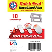 Be Smart Get Prepared - Quick Seal Nosebleed Plugs - 10 Plugs