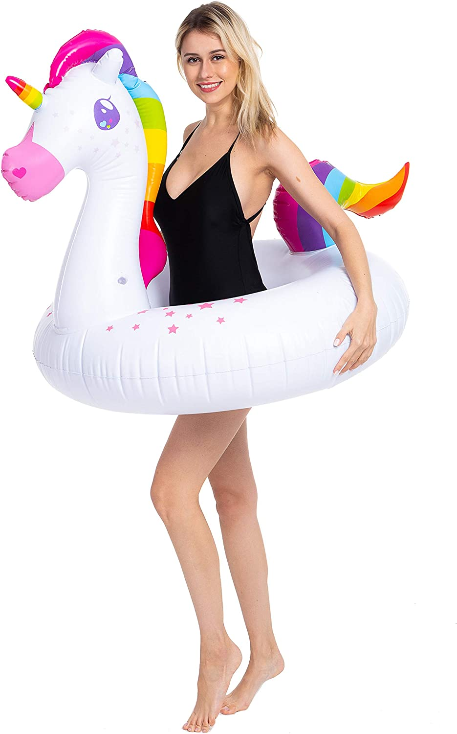 Amazon.com: JOYIN Flotador hinchable de flamenco y unicornio ...