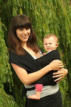 Calin Bleu Baby Sling Black Gauze Cotton Large Amazon Co Uk Baby