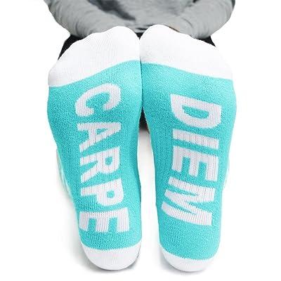 Arthur George Carpe Diem Striped Half Crew Socks