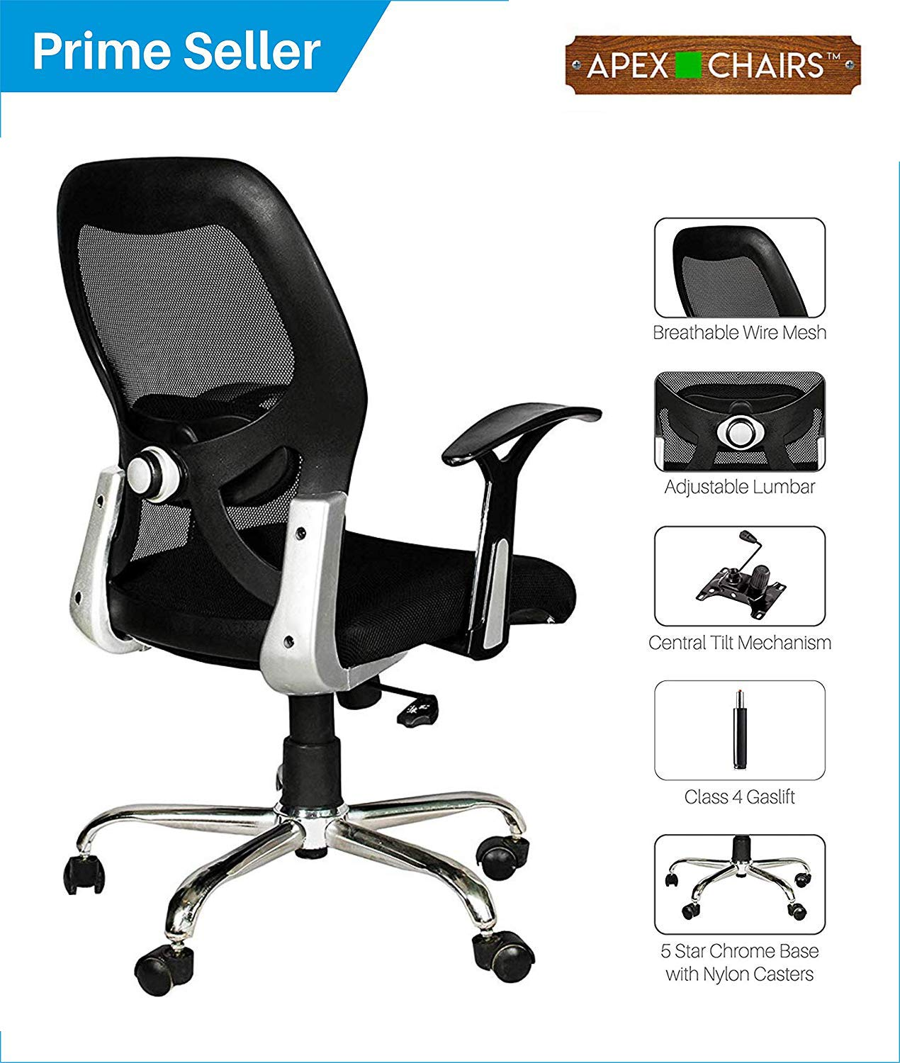 Apex AM-5002 Apollo Medium Back Office Chair