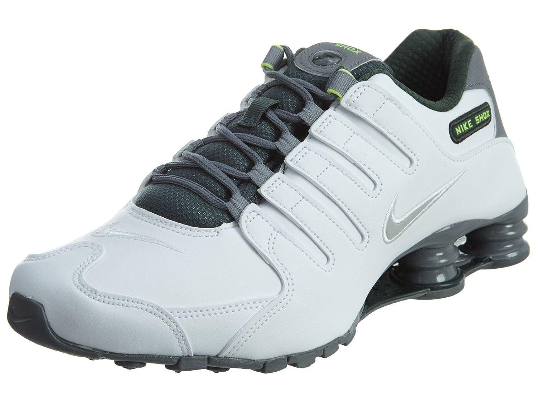 official photos 0f46c 4e53f Amazon.com   Nike Mens Size 7 Shox NZ Sneakers New, White Grey Grove Green  833579-101 sz 7 Mens   Fashion Sneakers