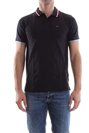 Tommy Jeans Hombre Basic Stretch Polo Manga Corta Negro (Tommy ...