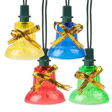 holiday essence musical christmas bell light set 30 indoor color bell lights plays 25