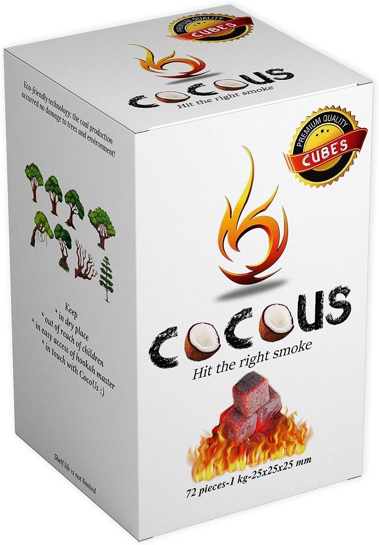 Gr/ö/ße 26er Cubes 10KG 64 W/ürfel Coconut Charcoal/® Shisha Kohle Premium Kokosnuss Naturkohle bis zu 120 Minuten Brenndauer