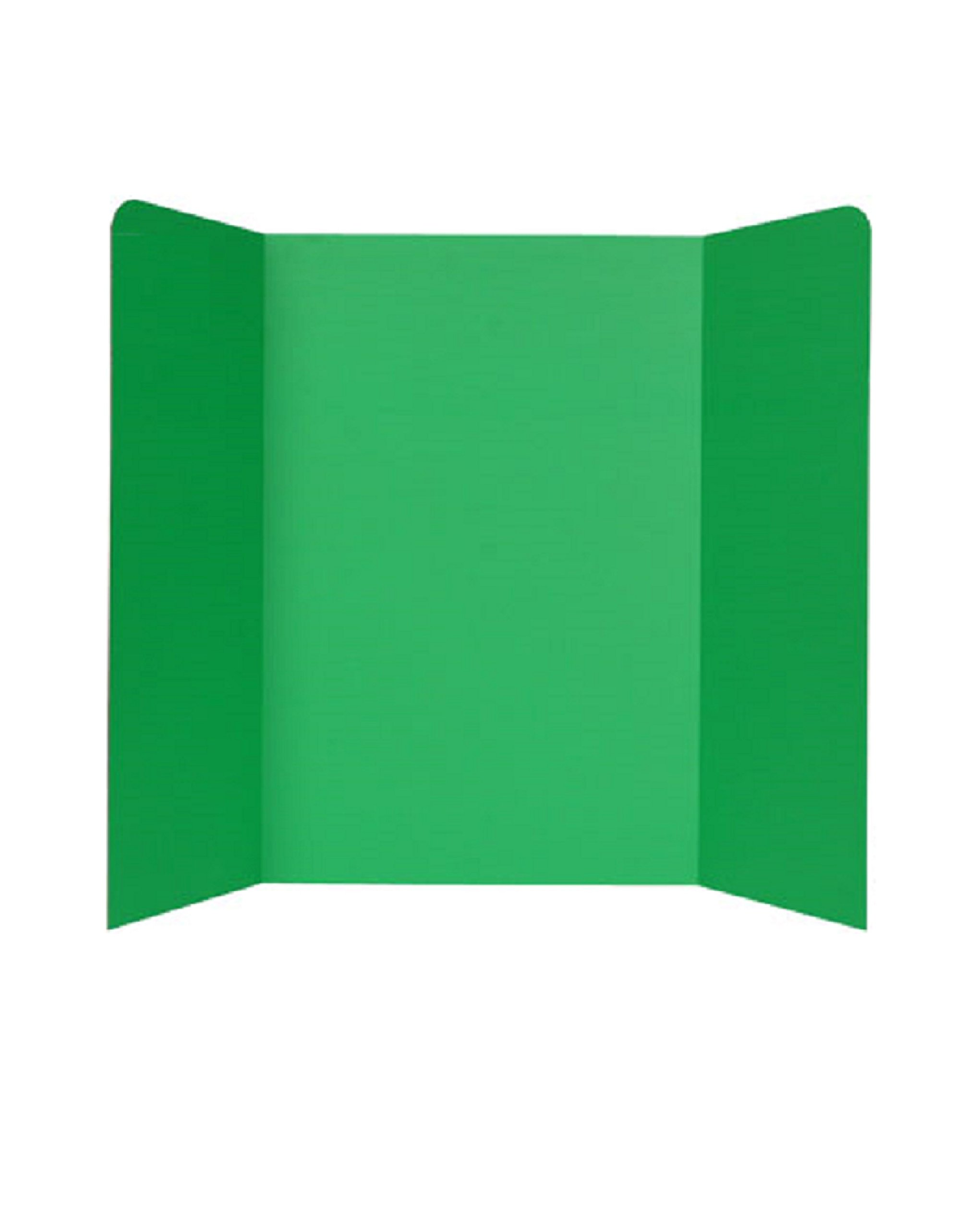 Tri-Fold Corrugated Presentation Boards (48 x 36 in; Pack of 10 - Green)