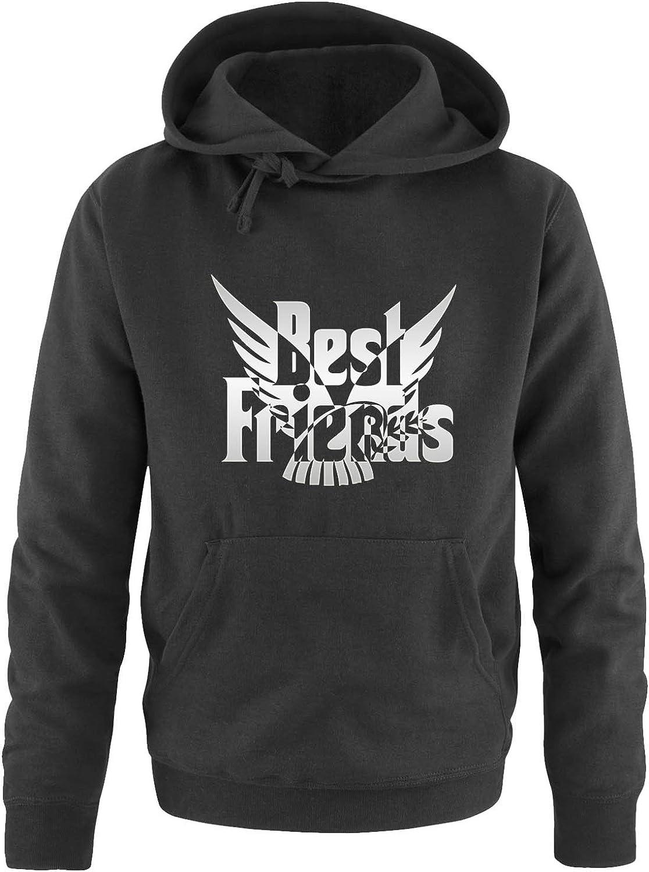 Langarm Herren Hoodie Print-Pulli Best Friend Friedenstaube Comedy Shirts Kapuze K/ängurutasche