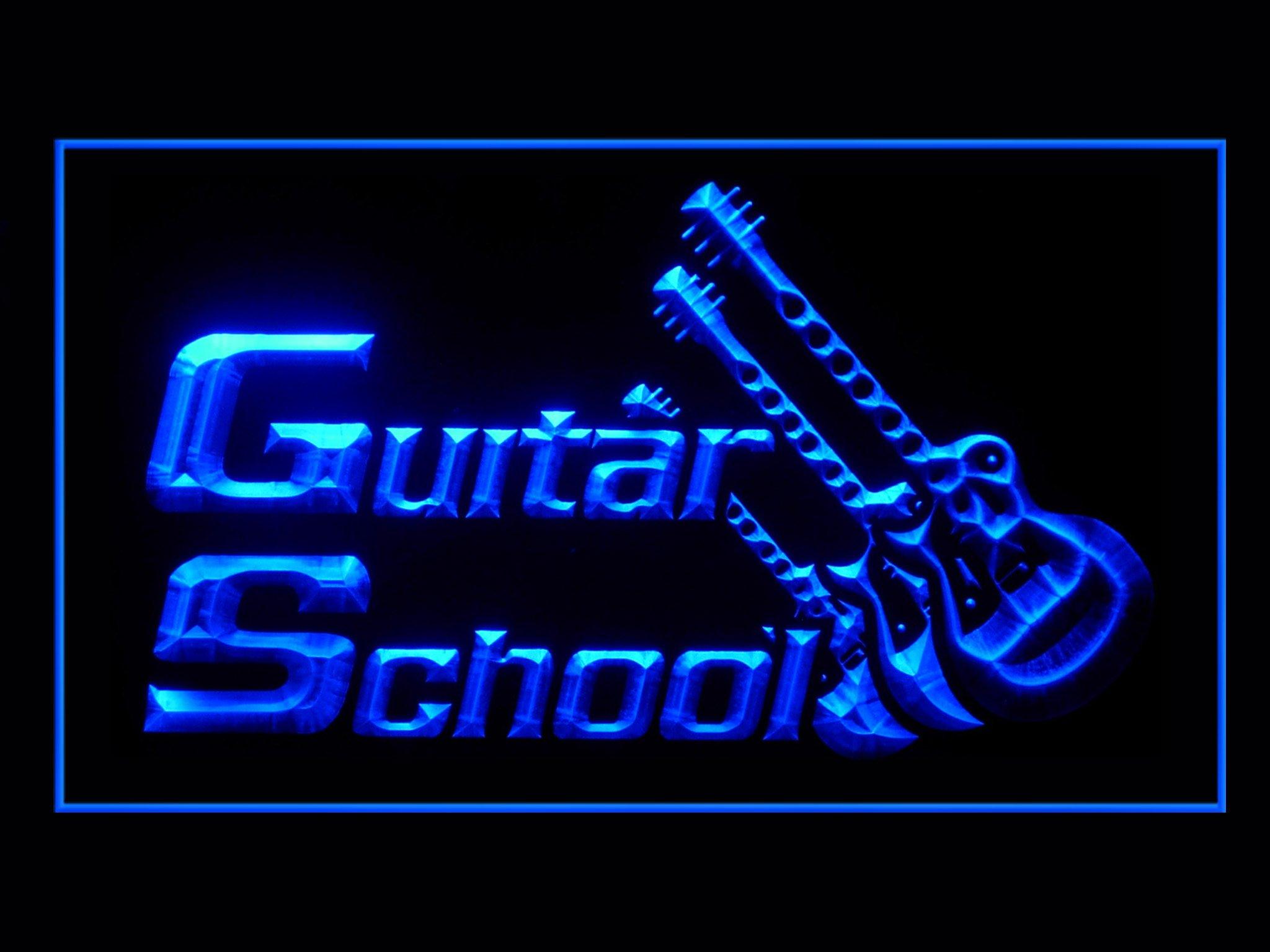 Guitar School Lesson Shop Led Light Sign