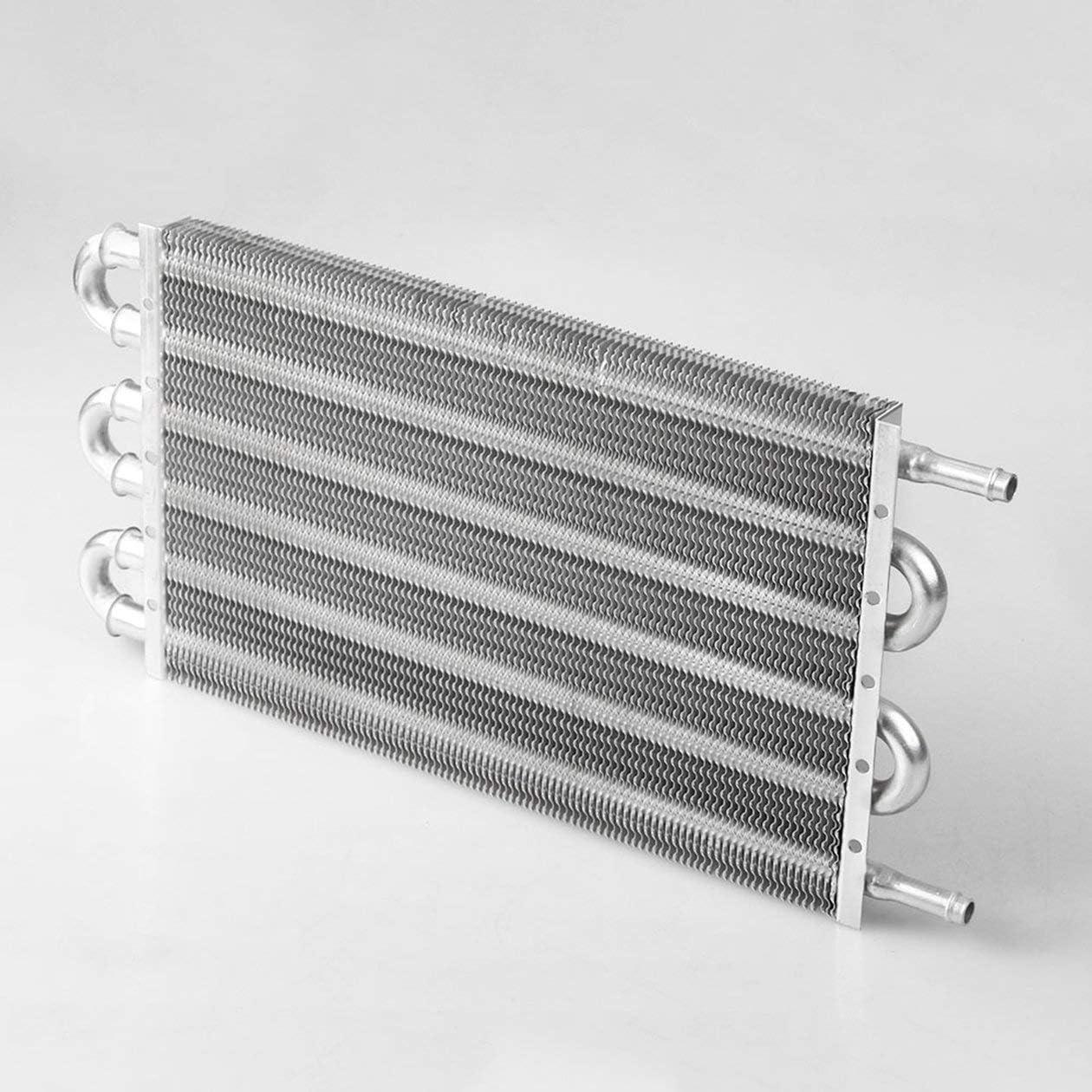 Refroidisseur dhuile de bo/îte de vitesses et kit de montage 4//6//8 rang/ée de radiateur Refroidisseur dhuile /à distance en alliage daluminium couleur: noir-4 tuyau//kit de montage