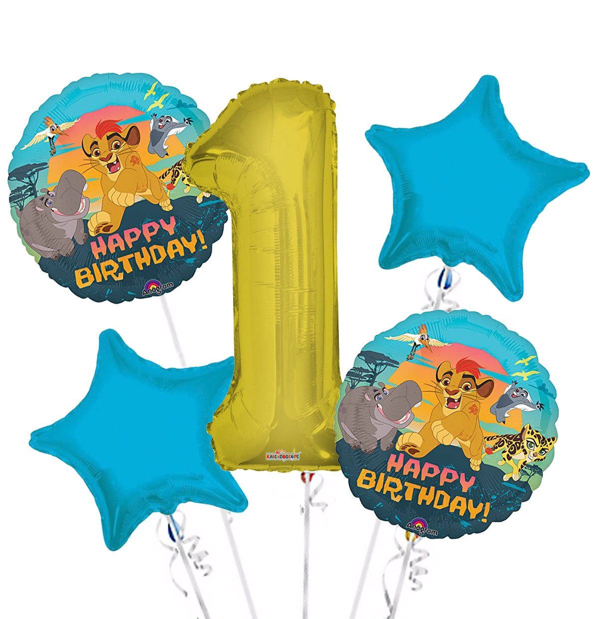 Amazon.com: Lion Guardia Globo Ramo 1er Cumpleaños 5 Pcs ...