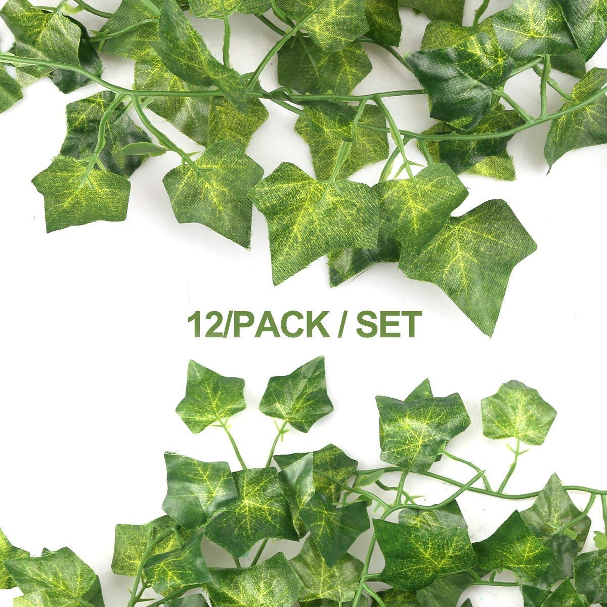 Plantas Hiedra Artificial, 84 Ft-12 Pack Planta De Hiedra Artificial Garland Plants Vine