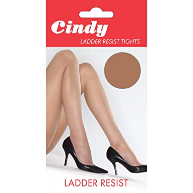 592f8a7c96c Cindy Womens Ladies Ladder Resist Tights (1 Pair) at Amazon Women s ...